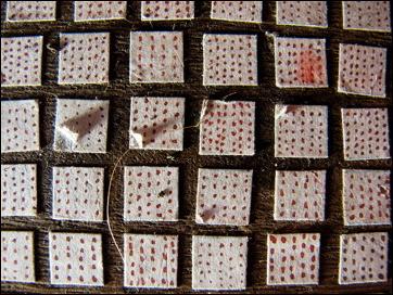 floor squares close-up
